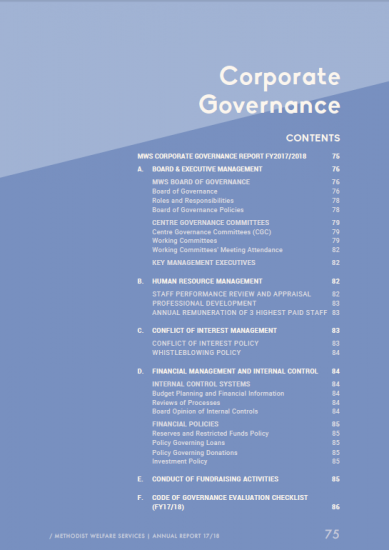 Corporate Governance Report 2017/18