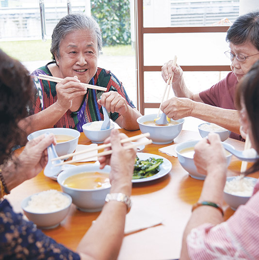 Contribute to run nutrition programmes for our seniors across our 7 MWS Senior Activity Centres